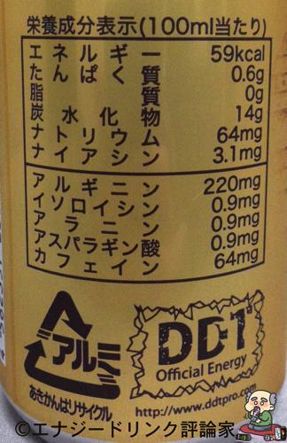 ブラックアウトゴッド栄養成分